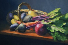 "Summer Basket     11"" x 14"" Oil      $1,400"