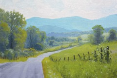 "Summer Road     9"" x 12"" Oil      SOLD!"