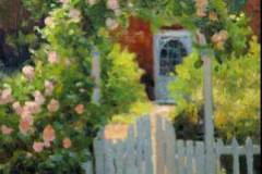 """The Arbor Gate     14"""" x 11"""" Oil      $2,400"""