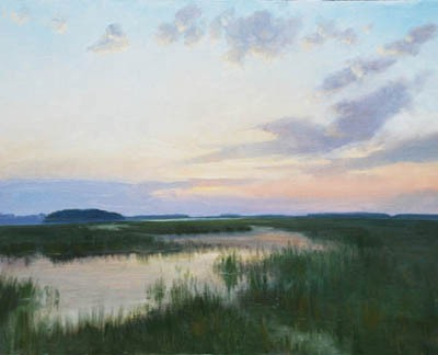 """Marsh Evening Magic    24"""" x 30"""" Oil    $5,100"""