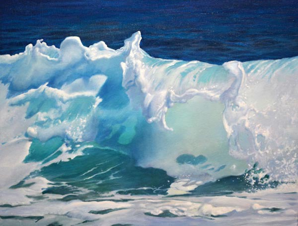 """The Wave   16"""" x 20"""" Oil   -   SOLD!"""