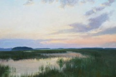 "Marsh Evening Magic    24"" x 30"" Oil    $5,100"