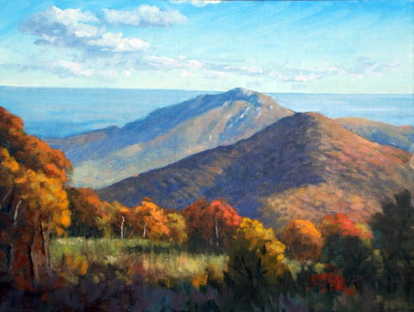 """Above Old Rag    * SOLD * 12"""" x 16"""" Oil   $2,600"""