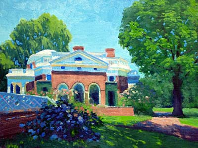 "Midday Monticello   12"" x 16"" Oil   $2,600"