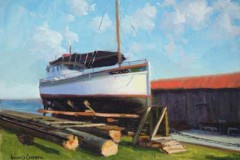 "Dry Dock   12"" x 16"" Oil   $2,600"