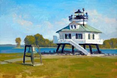 "Hooper Strait Lighhouse   11"" x 14"" Oil   $2.400"