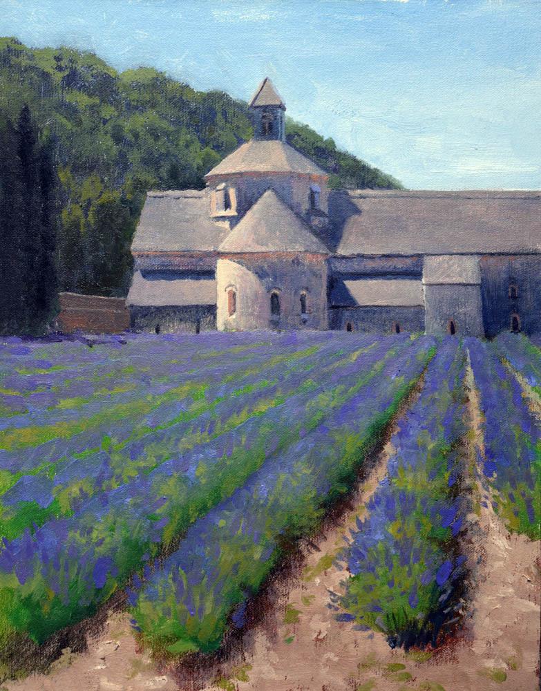 """Senanque Abbey Lavender   9"""" x 12"""" Oil    $1,800"""