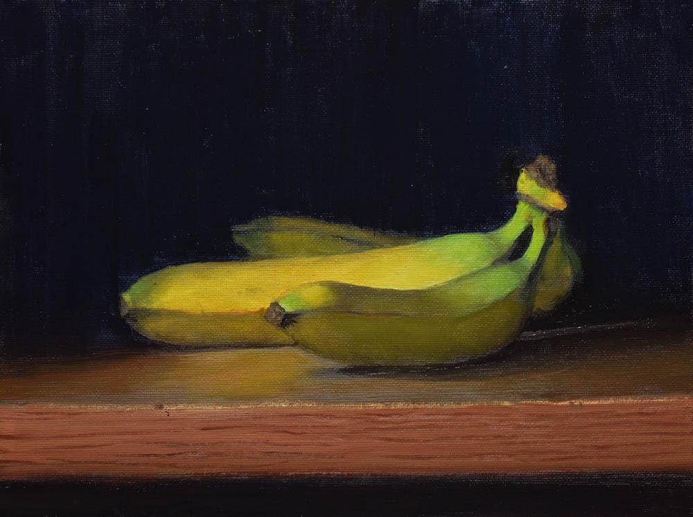 """Bananas    9"""" x 12"""" Oil    $1,800"""