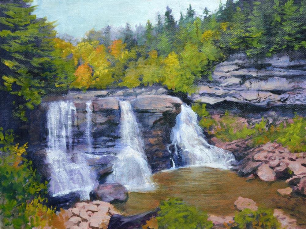 "Blackwater Falls - West Virginia     9"" x 12"" Oil     $1,800"