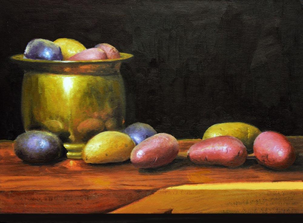 "Heirloom Potatoes   *  SOLD! *  12"" x 16"" Oil    $2,600"