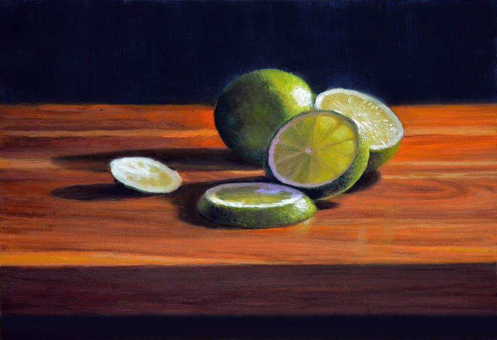 """Limes     12"""" x 16"""" Oil    $2,600"""
