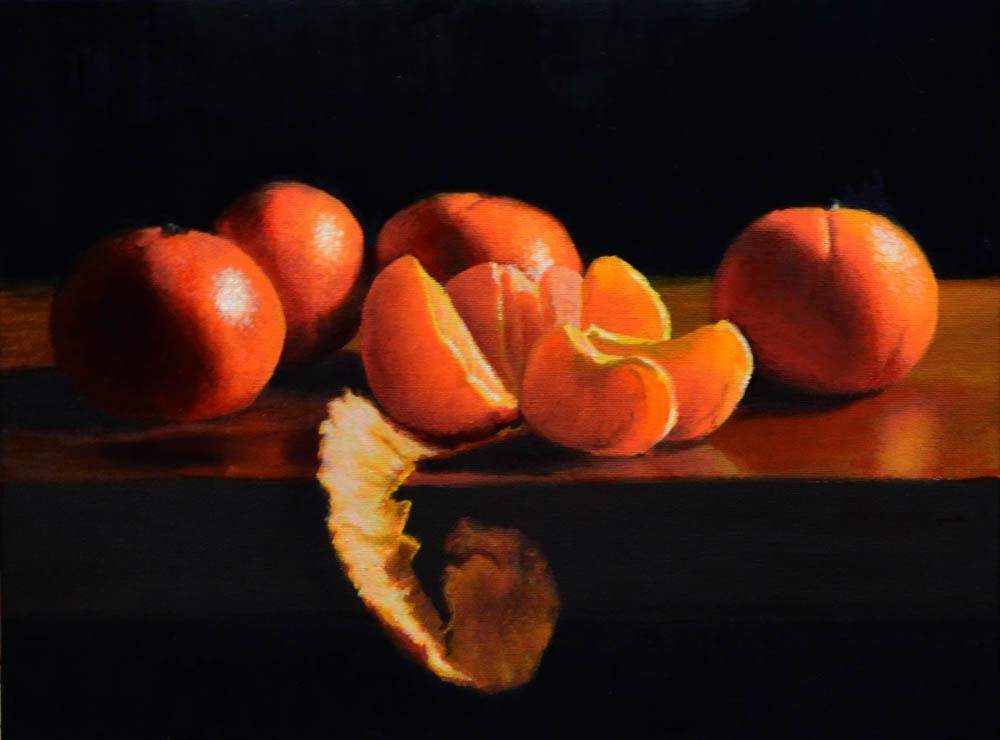 "Mandarins   12"" x 16"" Oil    $2,600"