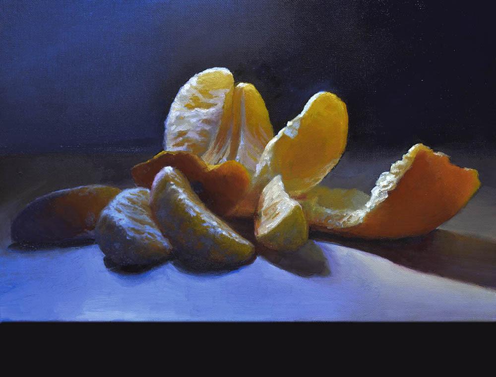 """Orange Beauty   11"""" x 14"""" Oil   $2,400"""