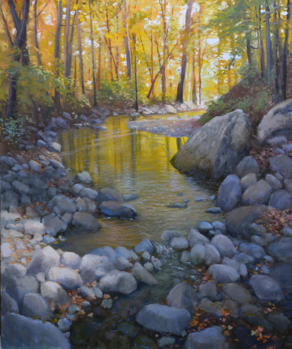 "Robinson Creek   24"" x 20"" Oil   $4,600"