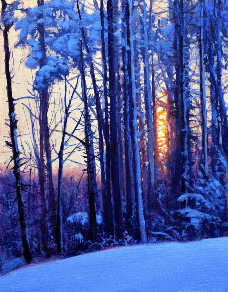 "Winter's Silence  14"" x 11"" Oil   $2,400"