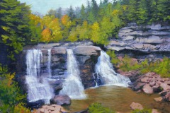 "Blackwater Falls - West Virginia     9"" x 12"" Oil     $1,800"