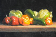 "Hot Stuff     8"" x 10"" Oil     $1,400"