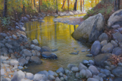 "Robinson Creek   24"" x 20"" Oil   $4,600"