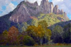 "Seneca Rocks     16"" x 20"" Oil   $3,800"