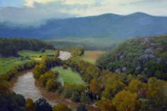 "Shenandoah River Valley Overlook     18"" x 24"" Oil     $4,400"