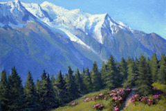 "View of Mount Blanc   16"" x 20"" Oil     $3,800"