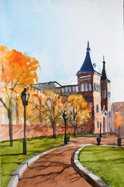 Autumn Light - Smithsonian Castle