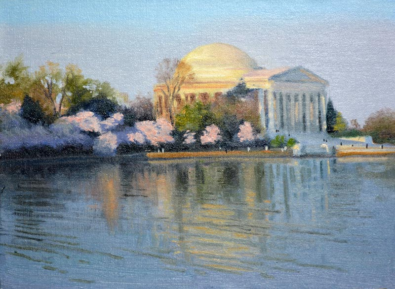 First Light - Jefferson Memorial