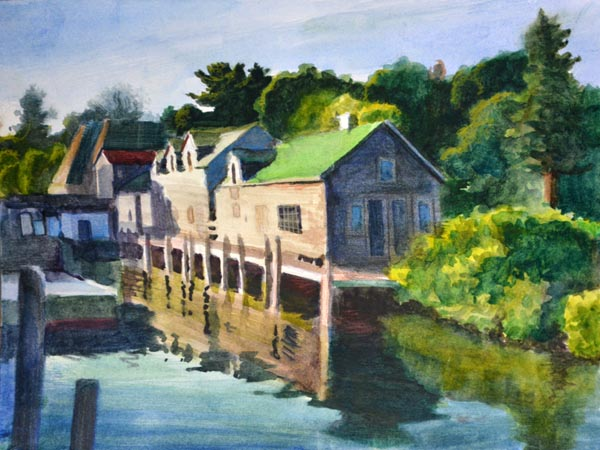 Morning on the Docks - SOLD!