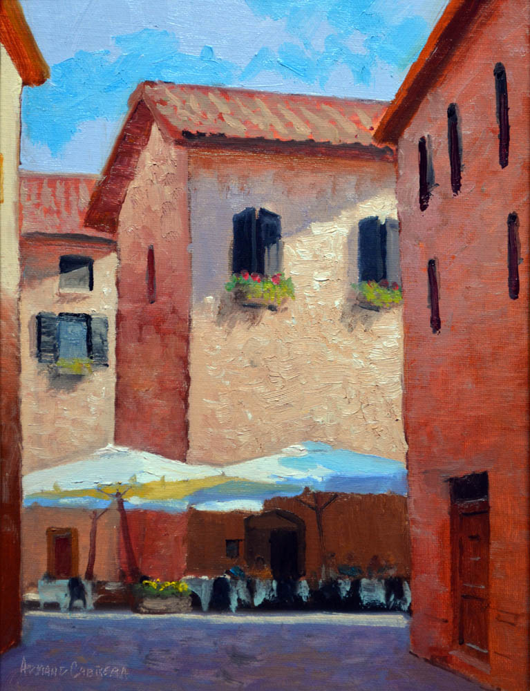 Open Air Cafe' - Italy -   SOLD!