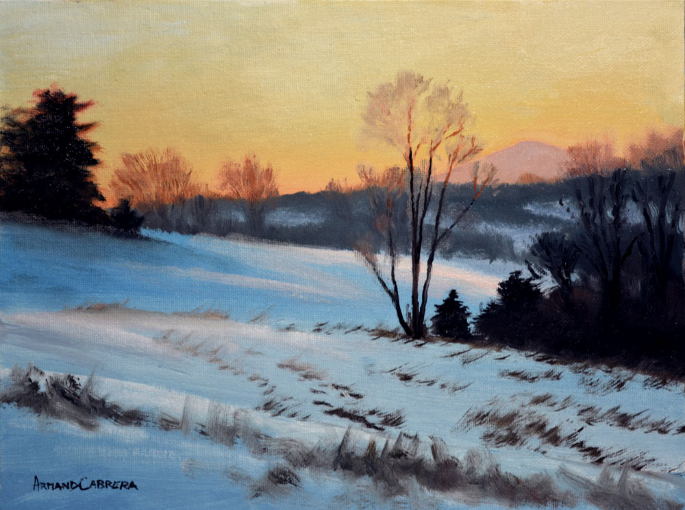 Winter Evening Glow -   SOLD!